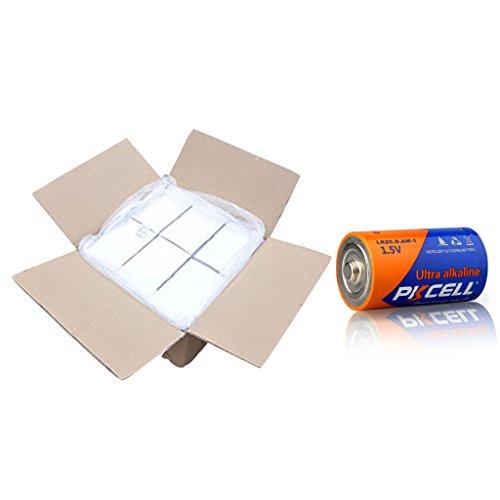 120Pcs/carton d size alkaline dry battery model lr20 by PK Cell
