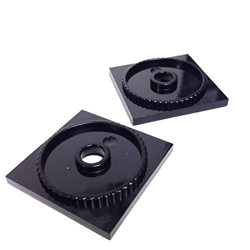 Lego-Parts-Turntable-4-x-4-Square-Base-Locking-PACK-of-2-Black
