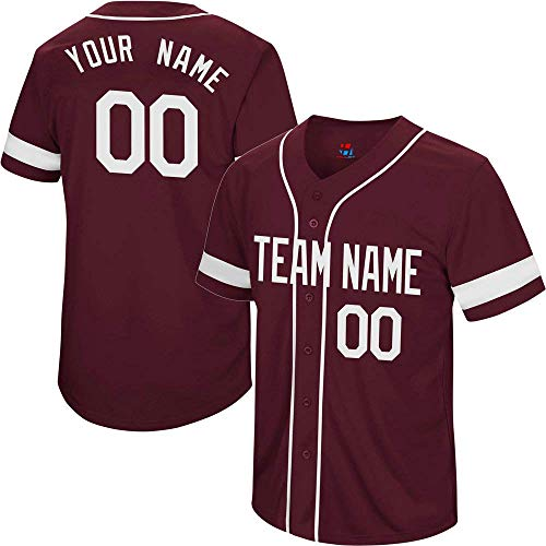 College Custom Baseball Jersey for Men Women Youth Button Down Embroidered Your Name & Numbers S-5XL