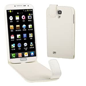 Pure Color Leather Funda Vertical Flip Case Carcasa Para Samsung Galaxy S4 i9500/(White)