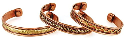Womens Jewelry Bracelet Copper Magnetic Cuff Healing Joint Pain Various Styles Chosen At Random