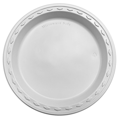 Simply Deliver 10-inch Plastic Plate, Microwavable and Dishw