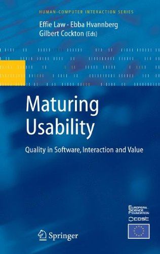 Maturing Usability: Quality in Software, Interaction and Value (Human–Computer Interaction Series)