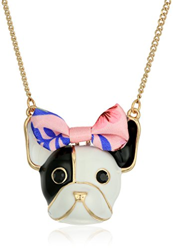 "Betsey Johnson Dog Pendant Necklace, 18"" + 4"" Extender"