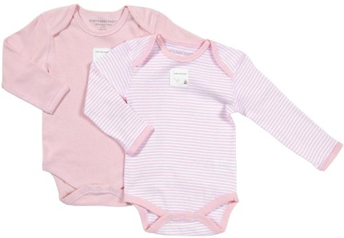 burts-bees-baby-baby-girls-2-pack-essentials-l-s-bodysuits-baby-blossom-18-months