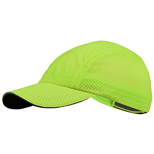 TrailHeads Race Day Performance Running Cap | The Lightweight, Quick Dry, Sport Cap for Men - 5 Colors - Highlighter Yellow
