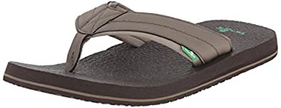 Sanuk Mens Beer Cozy 2 Big & Tall Brown Size: 6