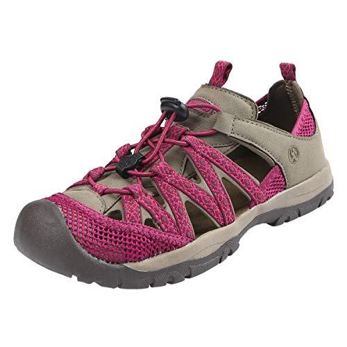 Northside Women's Santa ROSA Sport Sandal, Stone/Berry, Size 9 M US ()