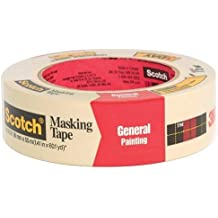 "3M Scotch 2050 Greener Crepe Paper Performance Painting Masking Tape, 60 yds Length x 1-1/2"" Width, Tan"