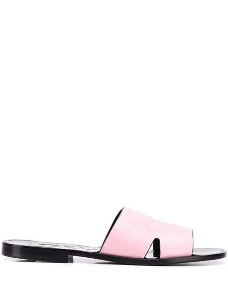 - Loewe Women's 453198097200 Pink Leather Sandals