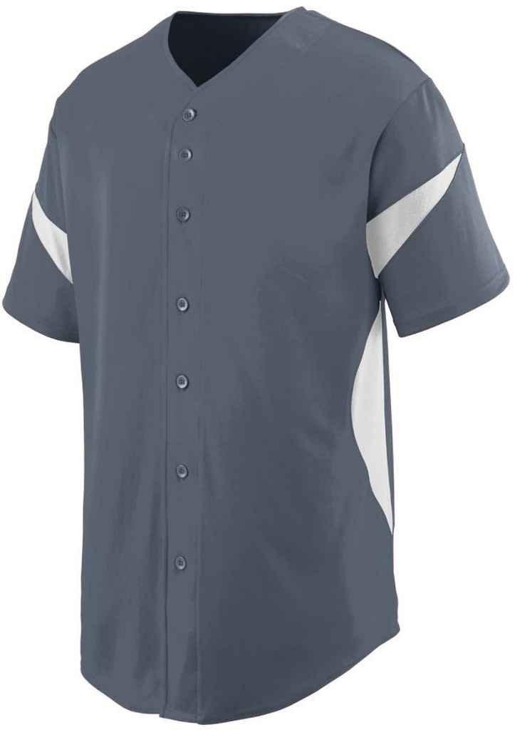 Augusta SportswearメンズホイールHouse Baseball Jersey B00P53RZA0グレー/ホワイト XXX-Large