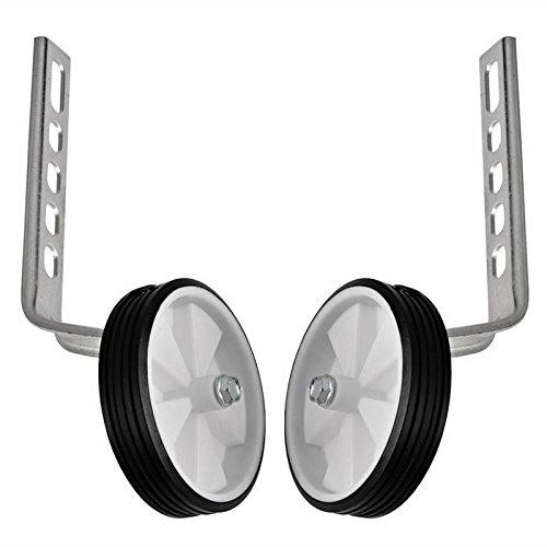 Lantusi 2pcs Stainless Steel 10''-20'' Kids Bike Training Wheels Stabiliser