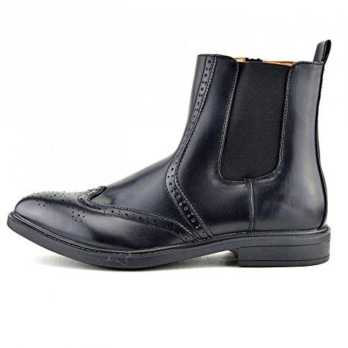 Uomo Stile Zip sul Chelsea Rivenditore Tassello alla Caviglia Nero Marrone Formale Stivali Nero