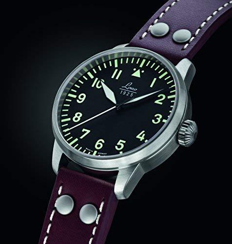 Laco 1925 861688 - Reloj analógico automático para hombre, correa de cuero color marrón: Amazon.es: Relojes