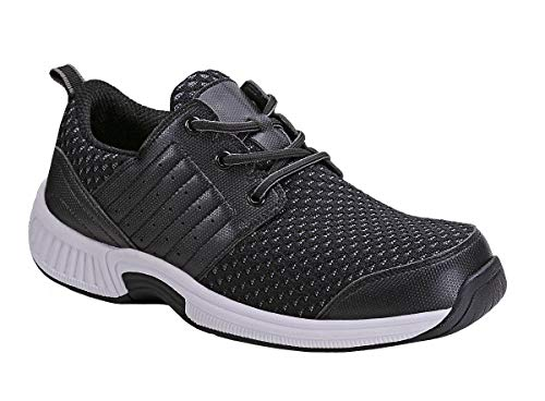 Orthofeet Proven Plantar Fasciitis Relief Comfort Orthopedic Arthritis Diabetic Athletic Mens Walking Shoes Tacoma Black (The Best Walking Shoes For Plantar Fasciitis)