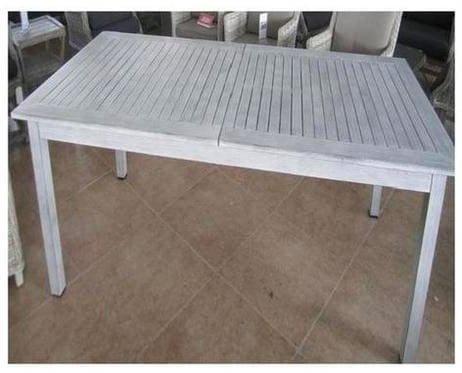 Mesa de jardín Extensible Rectangular 150/210 x 90 x 74 Gris ...