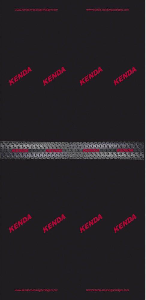 Kenda Promo - Pañuelo para el cuello/cabeza unisex, color negro, 24 x 48 cm
