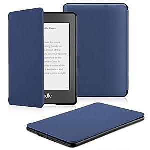 OMOTON Funda Kindle Paperwhite Carcasa Kindle Paperwhite 2018 Funda, PU, Sueño Automático, Cierre Magnético, Color Azul, Solo para Nuevo Kindle Paperwhite 2018(10ª GENERACION)
