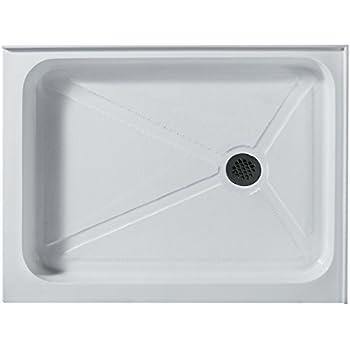 Elegant VIGO 32 X 48 In. Rectangular Shower Base Right Drain, White