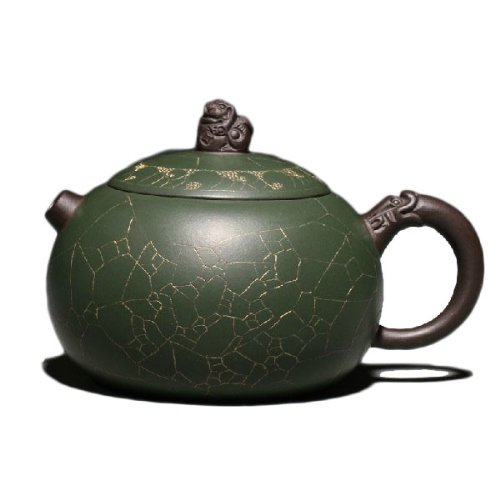 Chinese Yixing Handmade Zisha Clay Teapot Xiu Shi Hu Xi Shi Hu Tea Pot Hei Ni and Lv Ni 160cc Lion Design