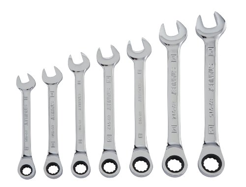 Stanley 94-543W 7-Piece Ratcheting Wrench Set, Metric -