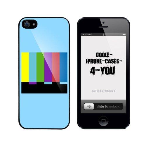 Iphone 5 / 5S Schutzhülle Testscreen v2 - schwarzer Rahmen