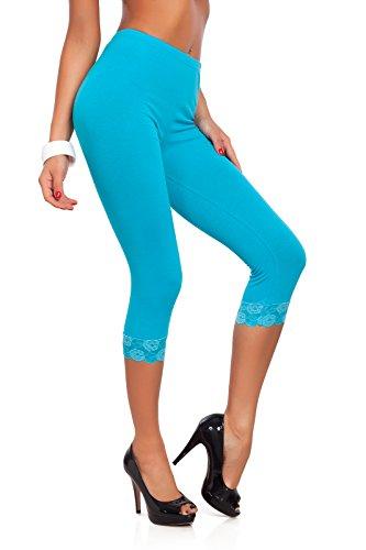 encaje trenzado con Turquoise Fashion® Leggings 3 de los colores algodón y todos tamaños Futuro 4 de 8Bzw1q8Ix