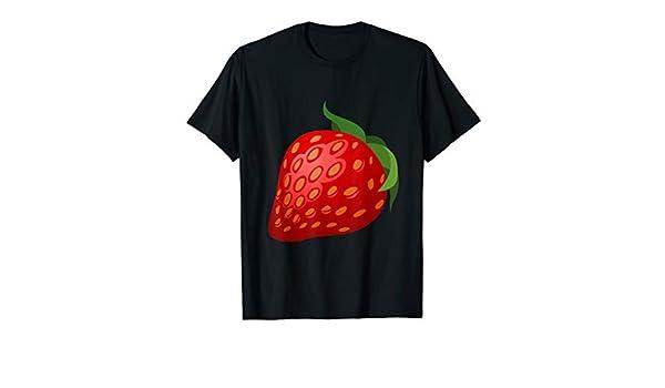 InterestPrint Mens Shirt Strawberries and Stars T-Shirt Summer Shirt V-Neck Beach Top for Men