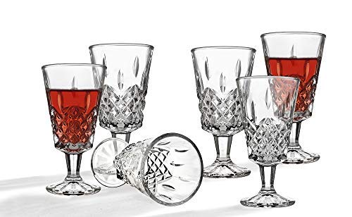 (Wine Glasses Stemmed Goblet Set, Stemware Wine Glass, 4.5oz, set of 6)