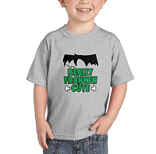 HAASE UNLIMITED Really Franken Cute T-Shirt (Light Gray, 12 Months) -