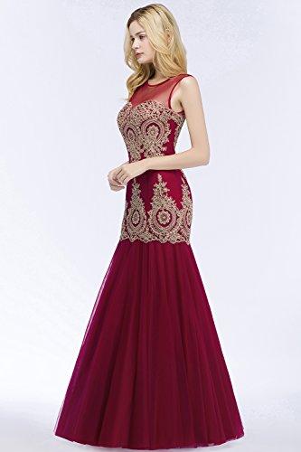 Weinrot Elegant Meerjungfrau 32 Gr Ballkleid Tüll Abendkleider 46 Brautjungfernkleid Maxi Hochzeit Babyonlinedress Für Lang 6xwqO5UFA