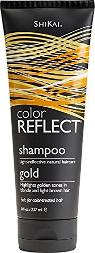 Shikai - Color Reflect Gold Shampoo, Creates an Overall Brightening Effect for Blonde Hair, Adds Weightless Body & Shine, Helps Protect & Extend Color Treated Hair (Unscented, 8 - Shampoo Highlights Red