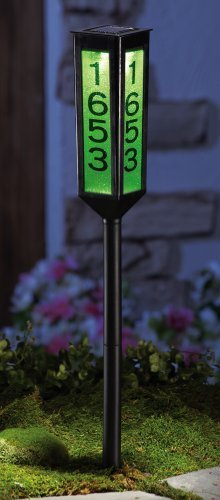 Solar Color Changing Address Marker Stake by Collections Etc (Marker Solar Address)