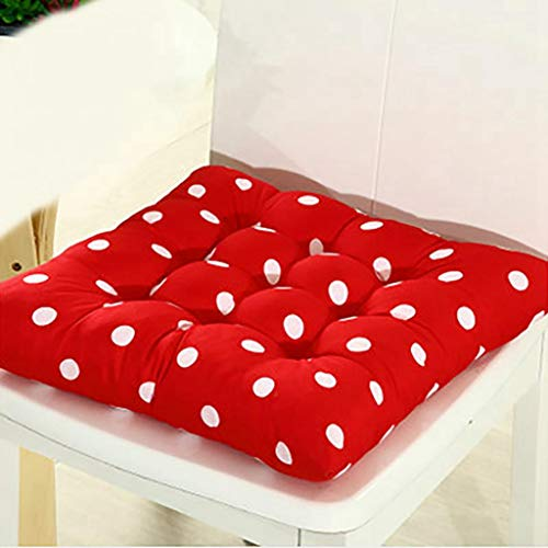 Thick Soft Seat Cushions for Kitchen Home Office Solid Color Square Buttocks Chair Pad 41x41cm - Pad Solid Race Disc