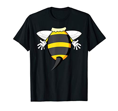Funny Bee Costume Easy Shirt - Honeybee Halloween Cheap Gift ()