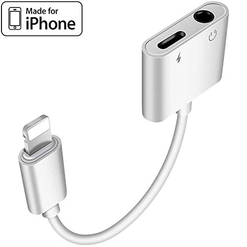 Headphone Adapter for iPhone 7/7 Plus 3.5mm Adapter Splitter Jack Aux Audio Charger for iPhoneX/Xs Max/XR/8/8 Plus Earphone Adaptor Charger Cables & Audio Converter Dongle Support iOS 11/12 or Higher (Iphone 7 Vs Iphone 8 Vs Iphone X)