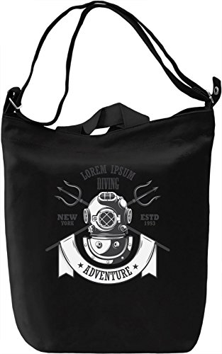 Diving adventure Borsa Giornaliera Canvas Canvas Day Bag| 100% Premium Cotton Canvas| DTG Printing|