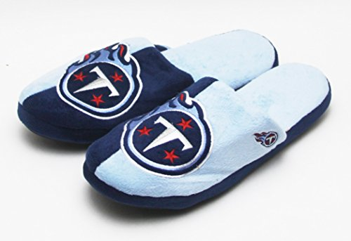 NFL Football 2015 Mens Split Color Slide Slippers - Pick Team (Tennessee Titans, (Tennessee Titans Shoe)