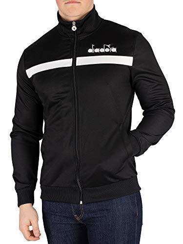 Diadora Men's Track Jacket, Black, M