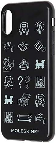 Moleskine - Carcasa Rígida Clásica Para IPhone X/XS, Funda Rígida Para Smartphone, Incluye Agenda Volant XS Para Notas, Color Negro - Diseño Monopoly (COQUES): Moleskine: Amazon.es: Electrónica