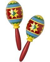 """Serious Fun Costume Party Fiesta Maracas, Multi Color, Plastic, 9 1/2"""", 2-Piece"""
