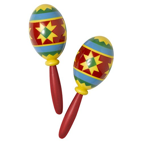 Mariachi Band Costume For Kids - Serious Fun Costume Party Fiesta Maracas, Multi Color, Plastic, 9 1/2