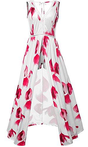 lexiart Floral Shoulder Bodycon Dresses