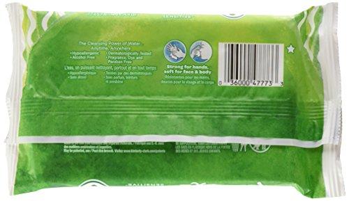 Kleenex Wet Wipes Sensitive Aloe & Vitamin E for Hands & Face, 20 Wipes