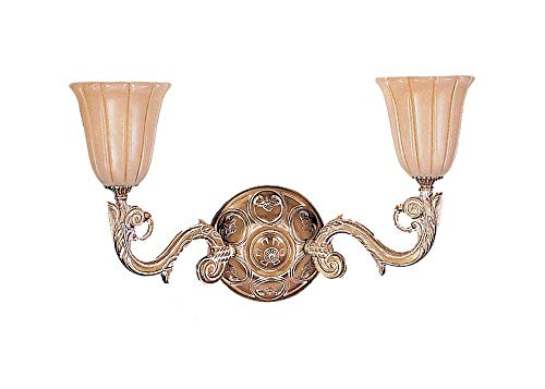 (Crystorama 892-WH Traditional Two Light Wall Sconce from Natural Alabaster collection in Lightfinish, 9.00)