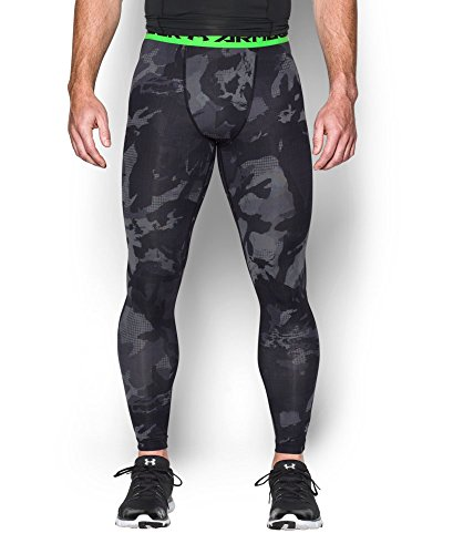 Under Armour Armour HeatGear Printed Legging - Mens Black / Steel 006 Small by Under Armour (Image #2)