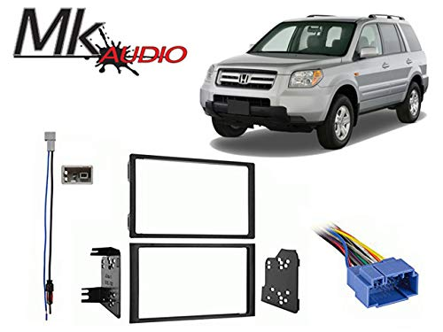 MK Audio Fits Honda Pilot 2006-2008 w/o OE NAV Double DIN Harness Radio Dash Kit