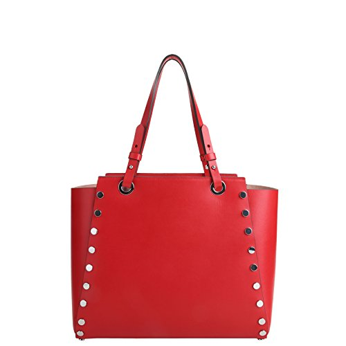 Sacs Cabas Rouge vachette en Magic Tictactoe R lisse de Kesslord Cuir MV Shopping amp; UwEnx