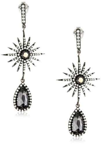Sutra One of a Kind 18k Gold Natural Black Diamond Starburst Earring