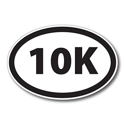 10K Marathon Black Oval Car Magnet Decal Heavy Duty Waterproof for sale